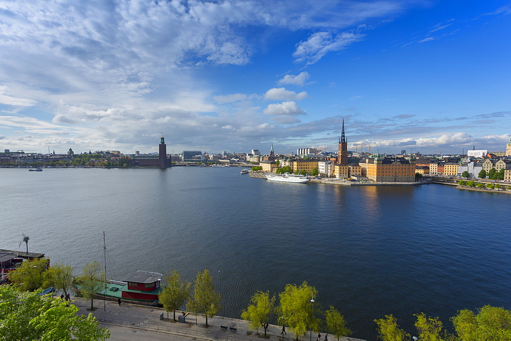 Riddarholmen Church and city skyline from Sodermalm, Stockholm, Sweden, Scandinavia, Europe - 844-13435