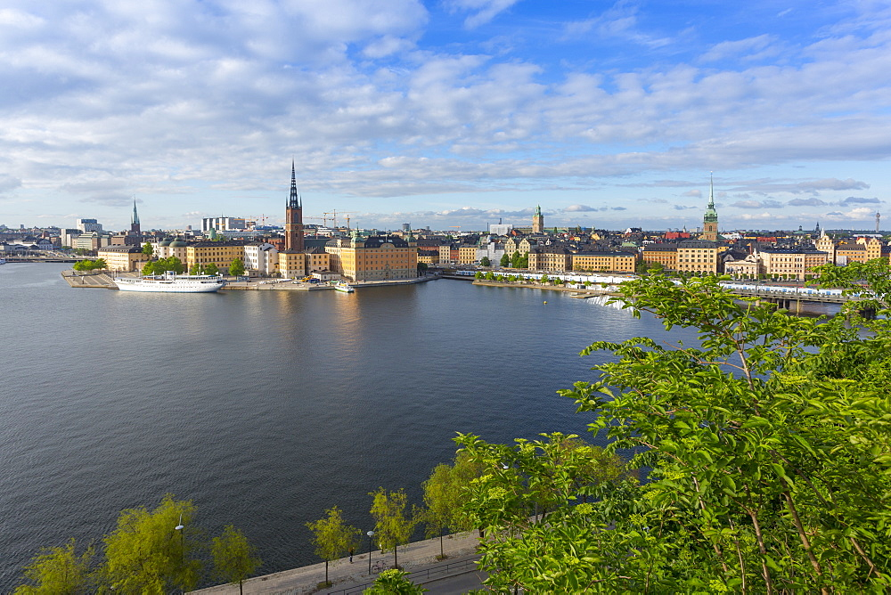 Riddarholmen Church and city skyline from Sodermalm, Stockholm, Sweden, Scandinavia, Europe - 844-13436