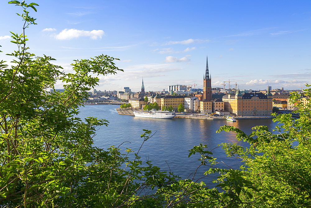 Riddarholmen Church and city skyline from Sodermalm, Stockholm, Sweden, Scandinavia, Europe - 844-13444
