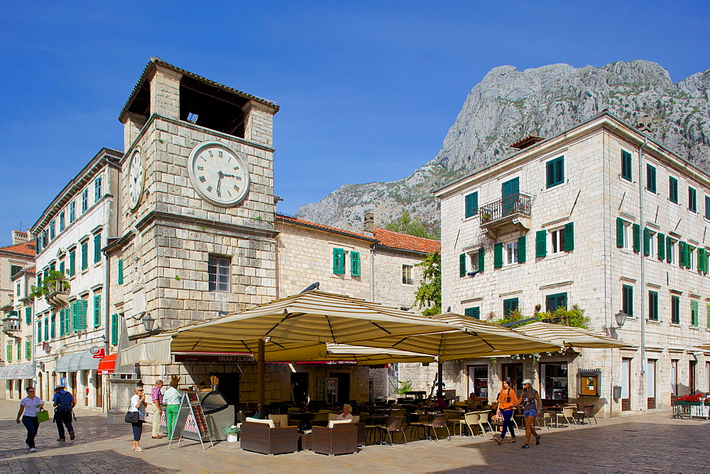 Old Town Clock Tower, Old Town, UNESCO World Heritage Site, Kotor, Montenegro, Europe