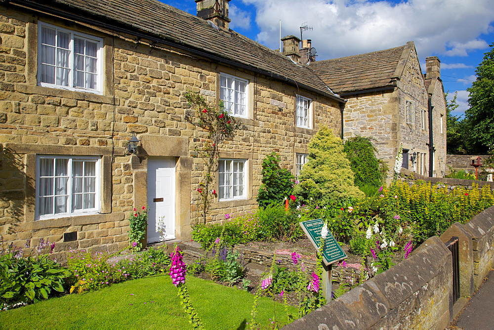 Plague cottages, Eyam, Derbyshire, England, United Kingdom, Europe