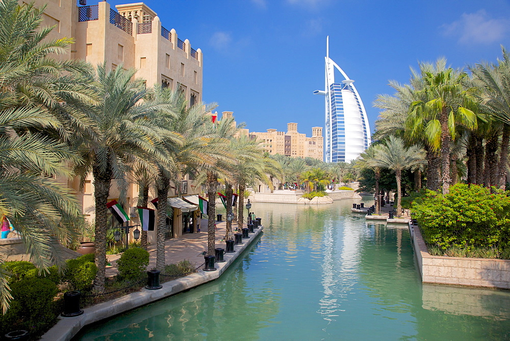 Madinat Jumeirah and Burj Al Arab, Dubai, United Arab Emirates, Middle East