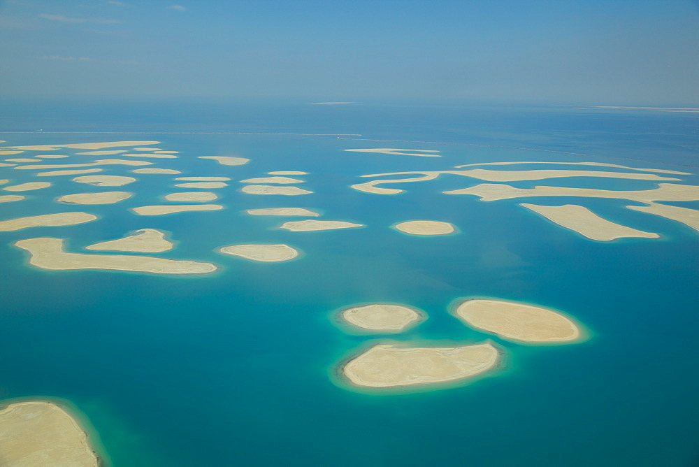 View of The World from seaplane, Dubai, United Arab Emirates, Middle East