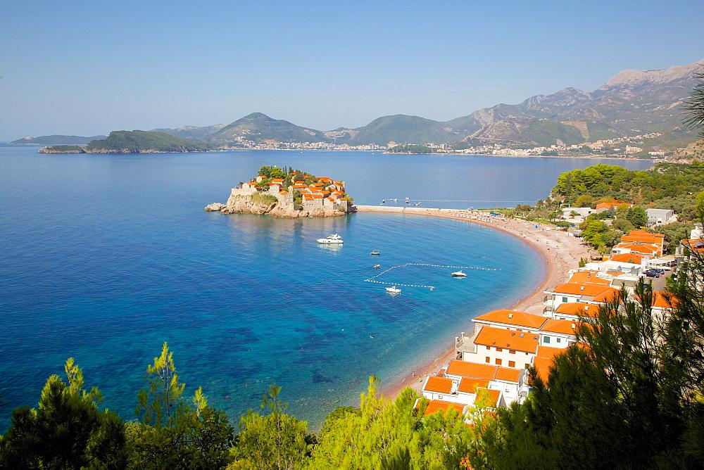 Sveti Stefan, Budva Bay, Budva Riviera, Montenegro, Europe