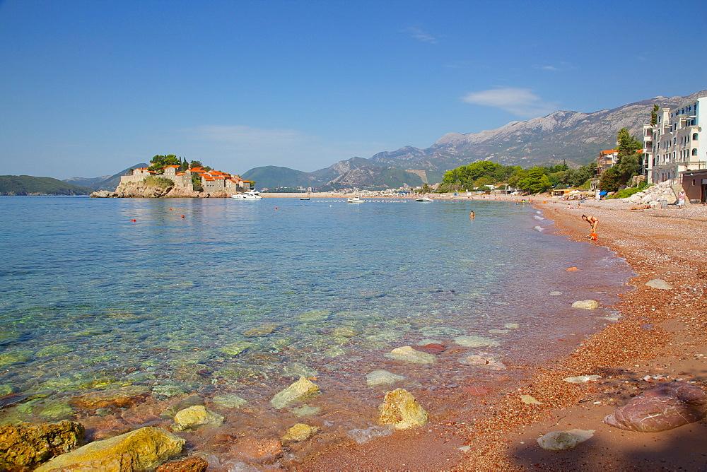 Sveti Stefan, Budva Bay, The Budva Riviera, Montenegro, Europe