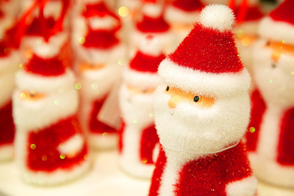 Santa Claus Chritmas decoration, Sheffield, Yorkshire, England, United Kingdom, Europe