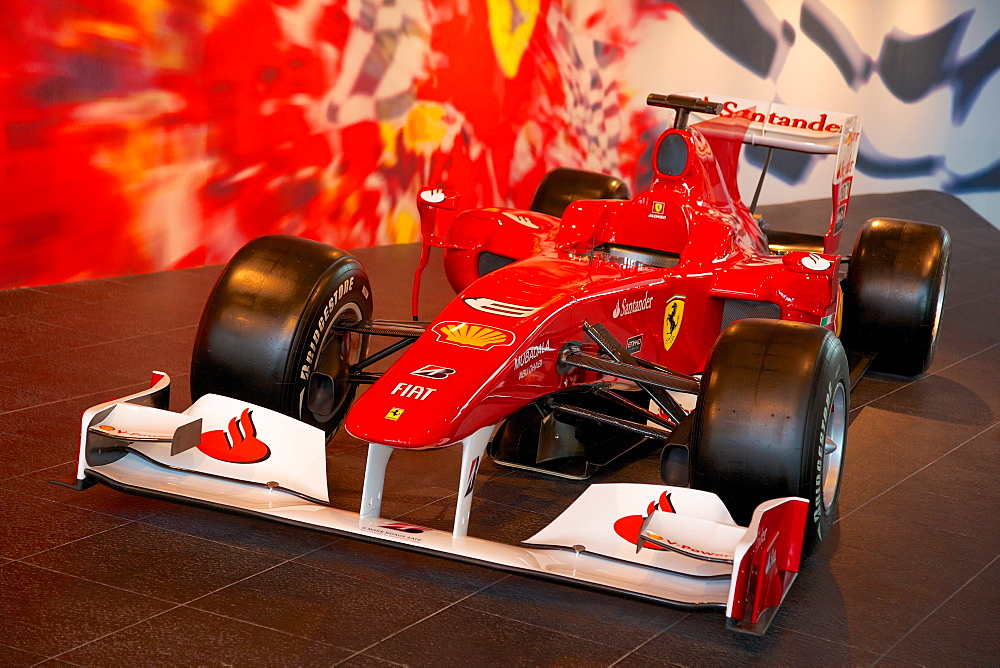 Formula 1 Racing Car, Ferrari World, Yas Island, Abu Dhabi, United Arab Emirates, Middle East