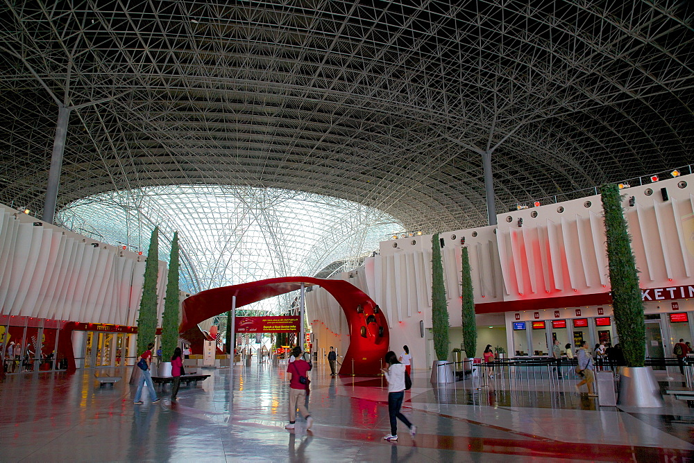 Entrance, Ferrari World, Yas Island, Abu Dhabi, United Arab Emirates, Middle East