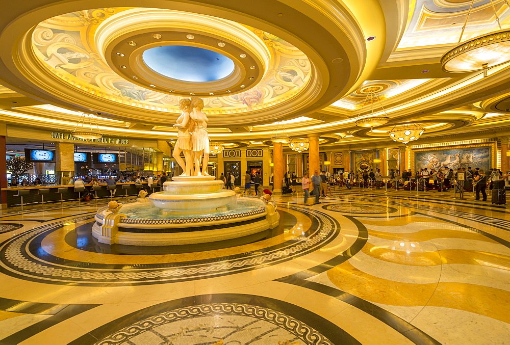 Interior view of Caesars Palace Hotel and Casino, Las Vegas, Nevada, USA, North America
