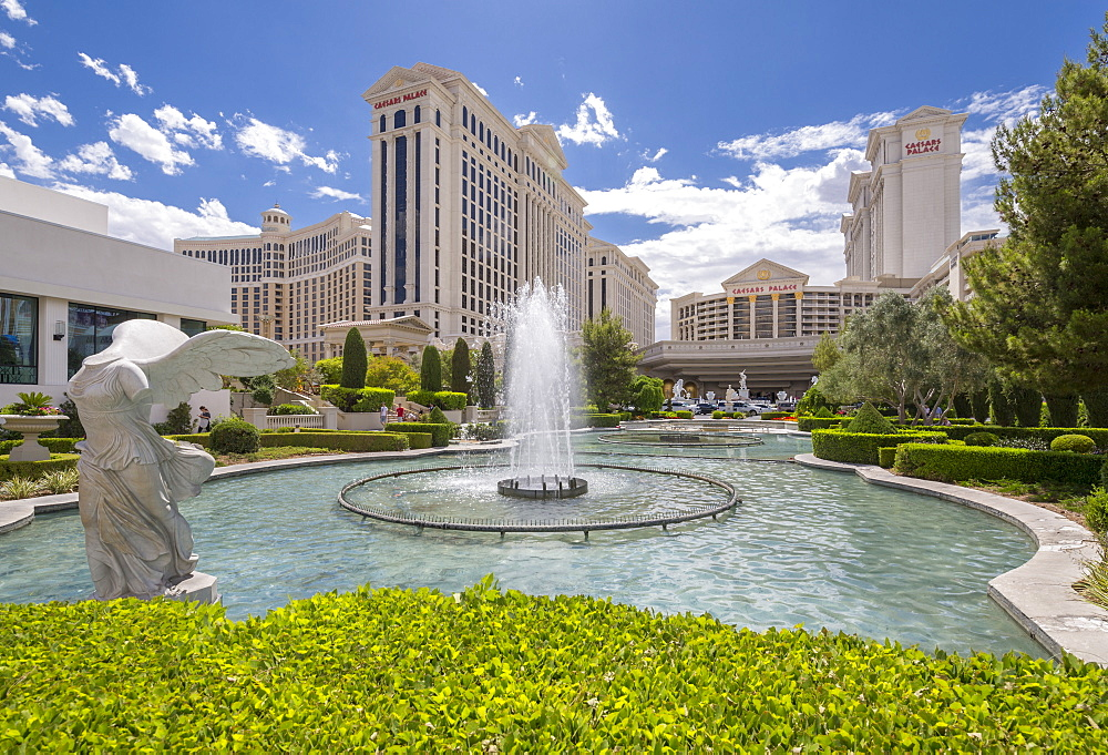 View of Caesars Palace Hotel and Casino, The Strip, Las Vegas Boulevard, Las Vegas, Nevada, United States of America, North America