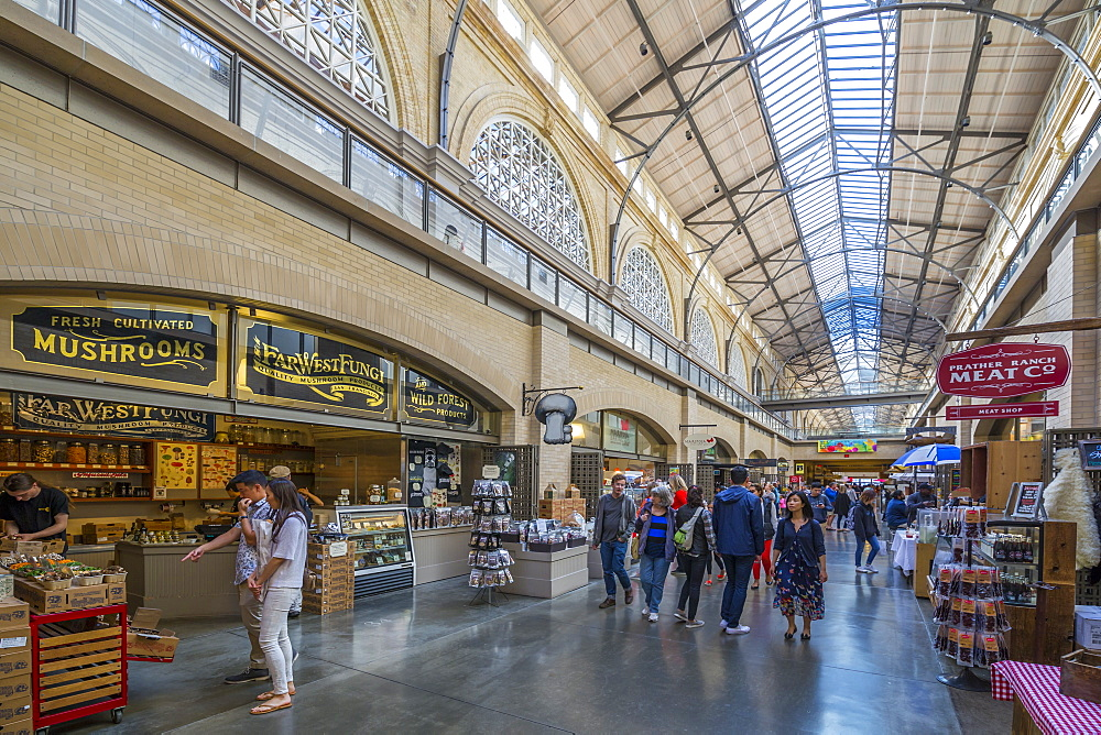 Interior of the Ferry Building Marketplace on the Embarcadero, San Francisco, California, USA, North America - 844-16983