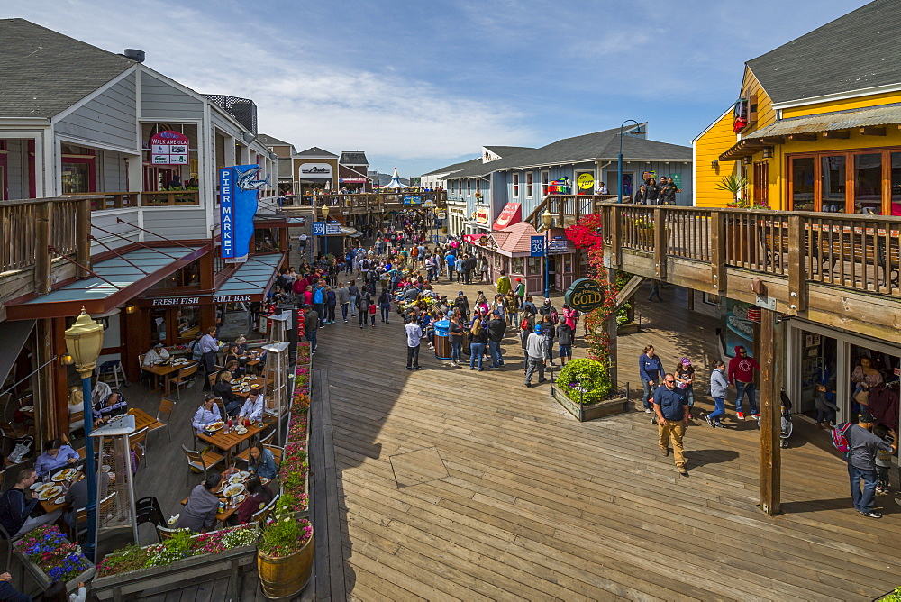 View of Pier 39 in Fishermans Wharf, San Francisco, California, United States of America, North America - 844-16999