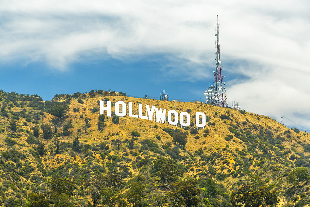 View of Hollywood sign, Hollywood Hills, Los Angeles, California, United States of America, North America