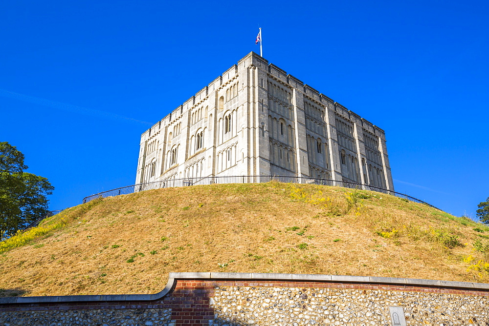 Exterior view of Norwich Castle, Norwich, Norfolk, England, United Kingdom, Europe