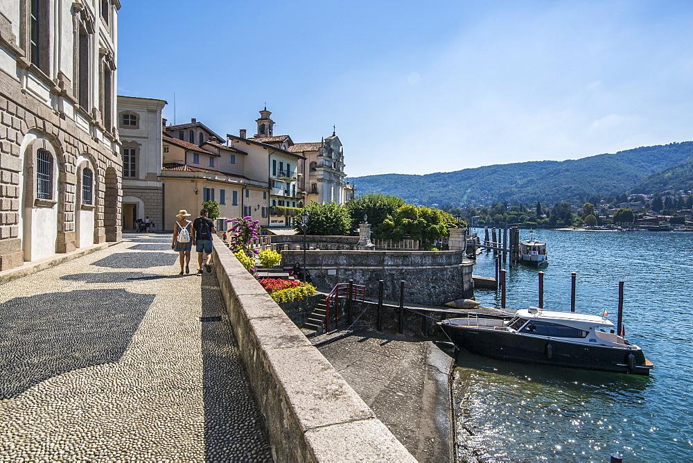 View of architecture on Isola Bella, Borromean Islands, Lago Maggiore, Piedmont, Italy, Europe - 844-17887