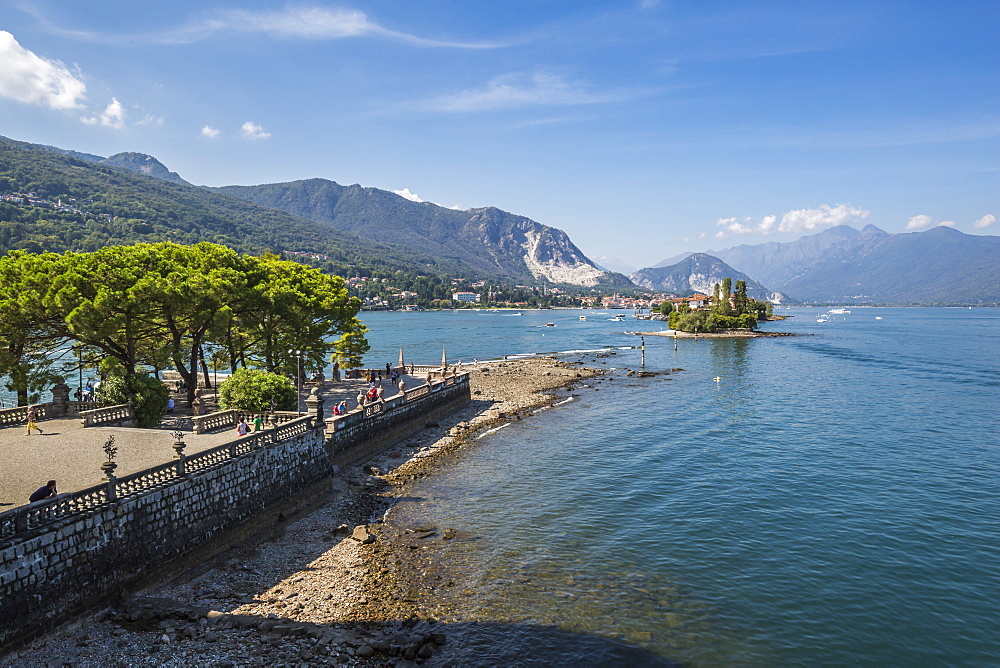 View from Royal Palace on Isola Bella, Borromean Islands, Lago Maggiore, Piedmont, Italian Lakes, Italy, Europe