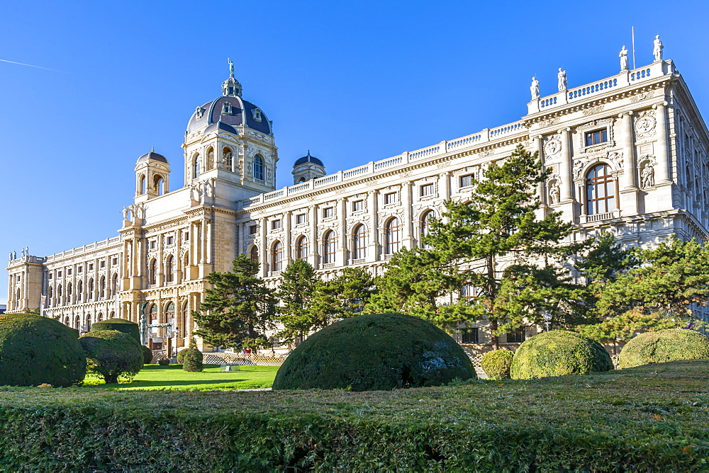 View of Museum of Natural History Vienna in Maria-Theresien-Platz, Vienna, Austria, Europe