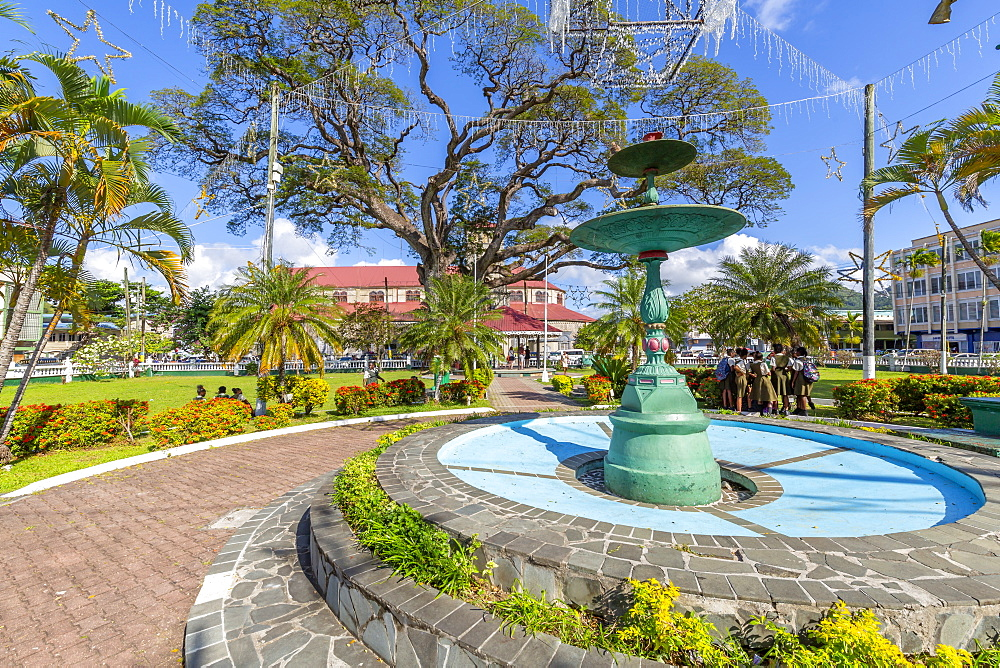 View of Derek Walcott Square, Castries, St. Lucia, Windward Islands, West Indies Caribbean, Central America