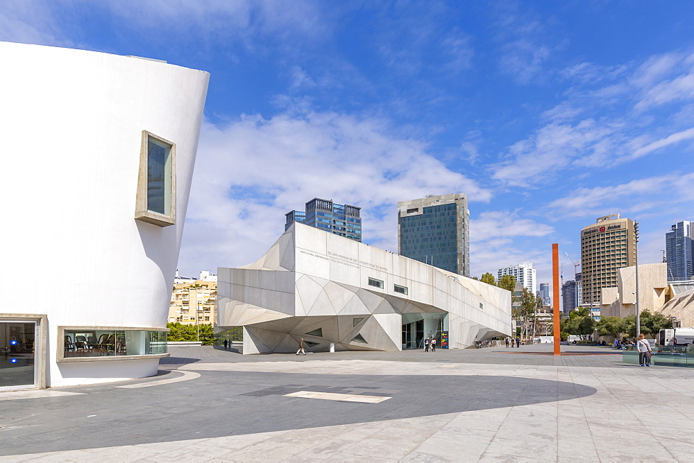 View of the Tel Aviv Performing Arts Center, Tel Aviv, Israel, Middle East