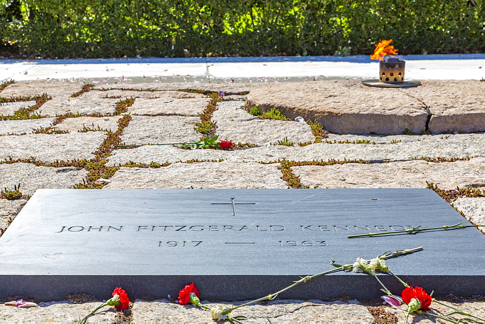 View of President John F. Kennedy Gravesite in Arlington National Cemetery, Washington D.C., United States of America, North America