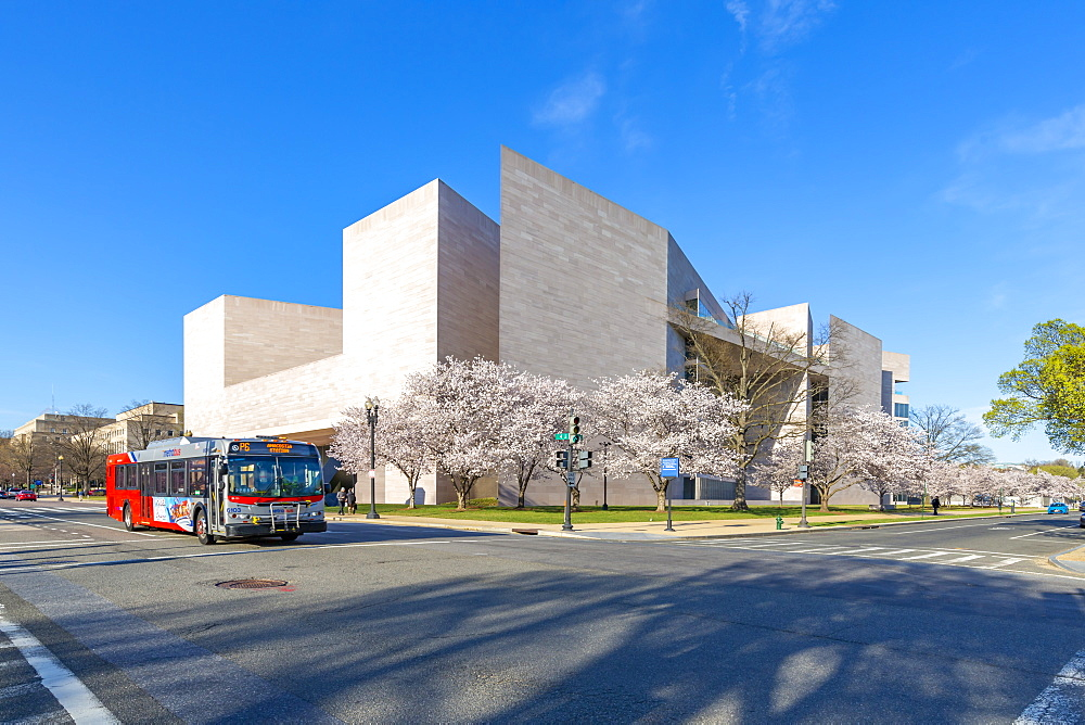 View of National Gallery of Art, East Building on the National Mall in spring, Washington D.C., United States of America, North America