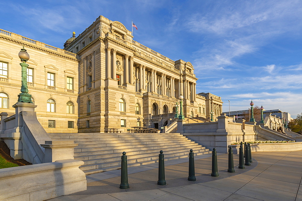 View of Library of Congress in spring, Washington D.C., United States of America, North America