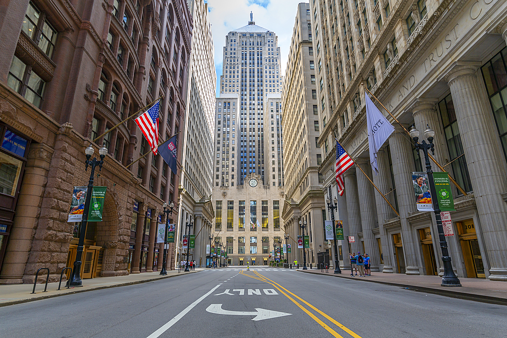 View of Chicago Board of Trade building, Chicago, Illinois, United States of America, North America