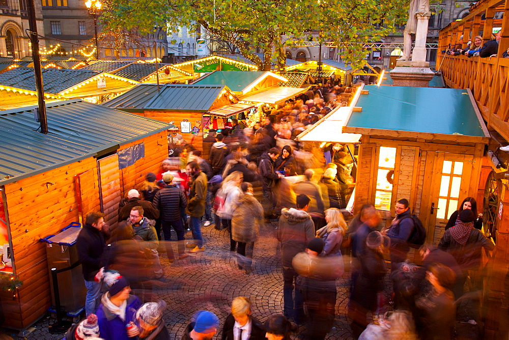Christmas Market, Albert Square, Manchester, England, United Kingdom, Europe