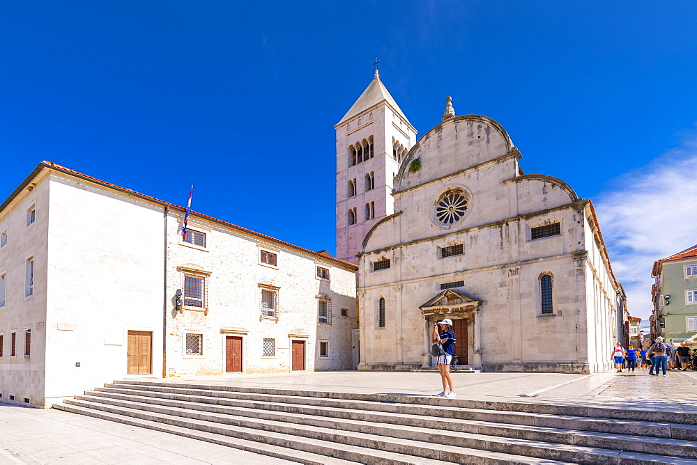 View of Catholic Church and Museum, Zadar, Zadar county, Dalmatia region, Croatia, Europe