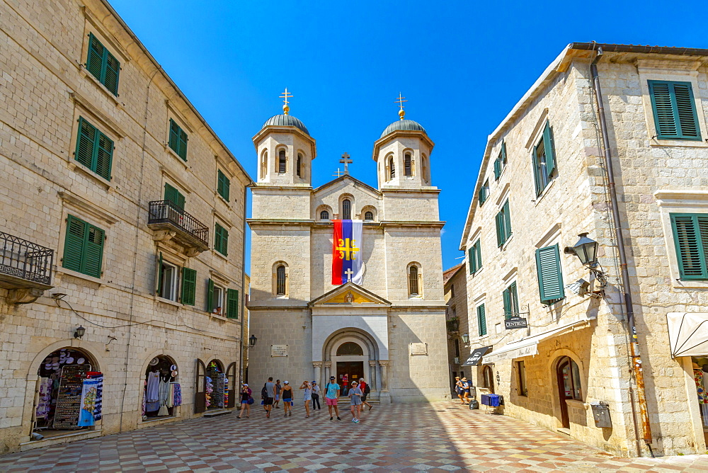 St. Nicholas Serbian Orthodox Church , Old Town, UNESCO World Heritage Site, Kotor, Montenegro, Europe