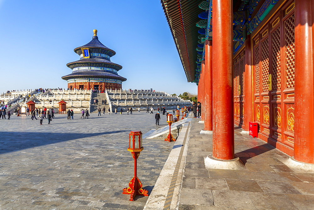 The Hall of Prayer for Good Harvests in the Temple of Heaven, UNESCO World Heritage Site, Beijing, People's Republic of China, Asia - 844-21863