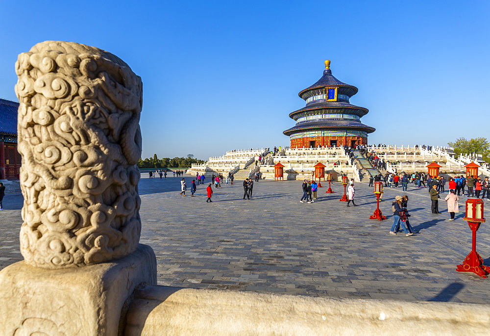 The Hall of Prayer for Good Harvests in the Temple of Heaven, UNESCO World Heritage Site, Beijing, People's Republic of China, Asia - 844-21864