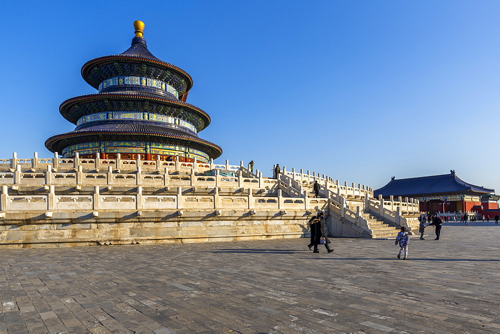 The Hall of Prayer for Good Harvests in the Temple of Heaven, UNESCO World Heritage Site, Beijing, People's Republic of China, Asia - 844-21867