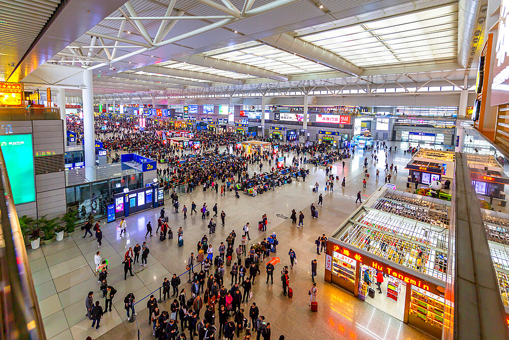 View of Hongqiao Railway Station, Shanghai, China, Asia
