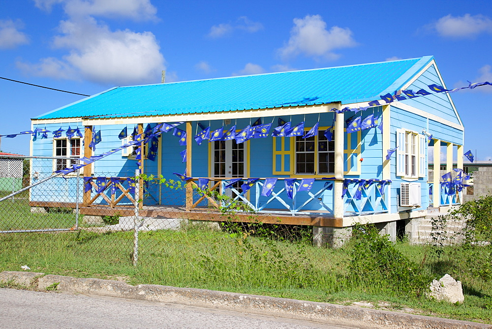 Colourful house near Falmouth, St. Paul, Antigua, Leeward Islands, West Indies, Caribbean, Central America