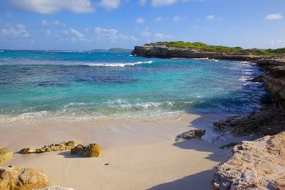 Beach near Devil's Bridge, St. Peter, Antigua, Leeward Islands, West Indies, Caribbean, Central America