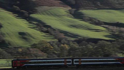 Vale of Edale, Train, Peak District National Park, Derbyshire, England, UK