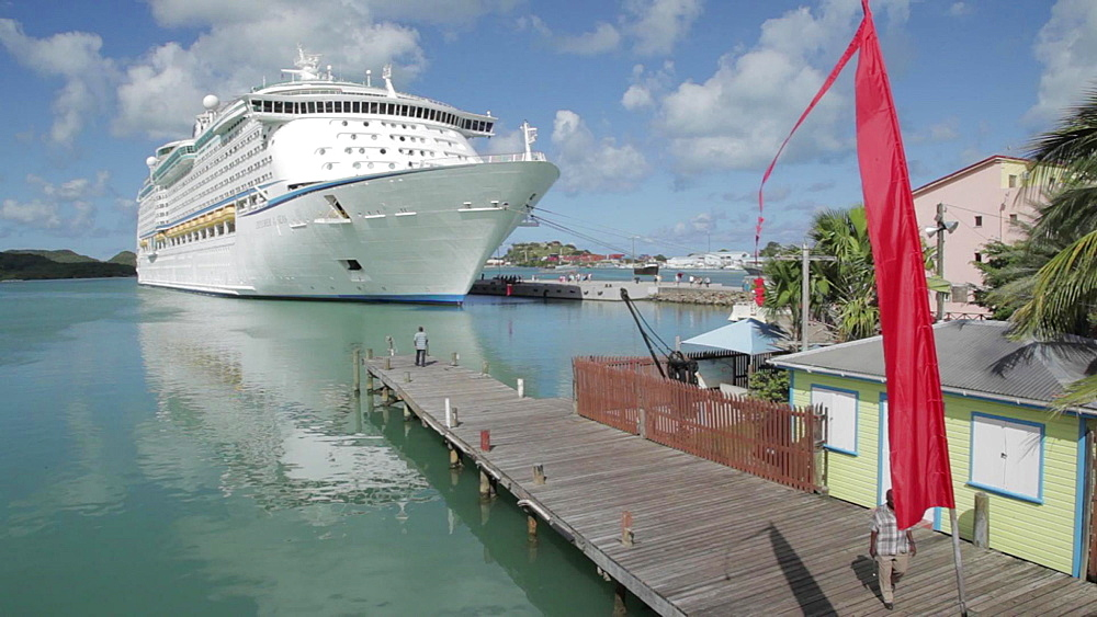 Cruise Ship in Port, St John's, Antigua and Barbuda, Caribbean - 844-2457