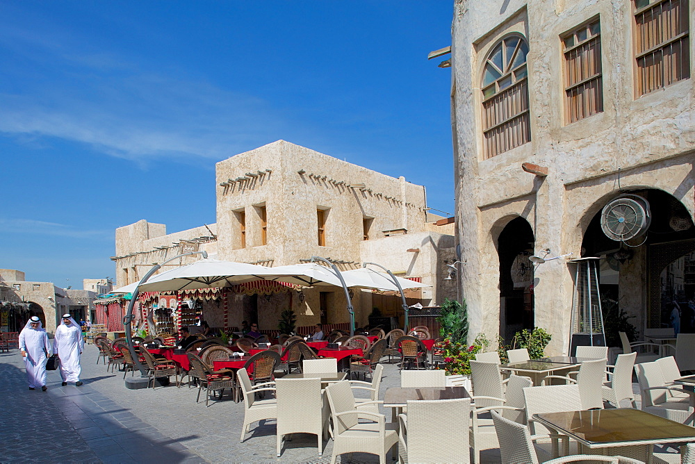 Restaurants, Waqif Souq, Doha, Qatar, Middle East