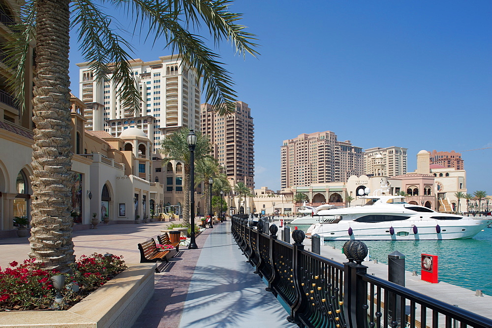 Waterside and Harbour, The Pearl, Doha, Qatar, Middle East