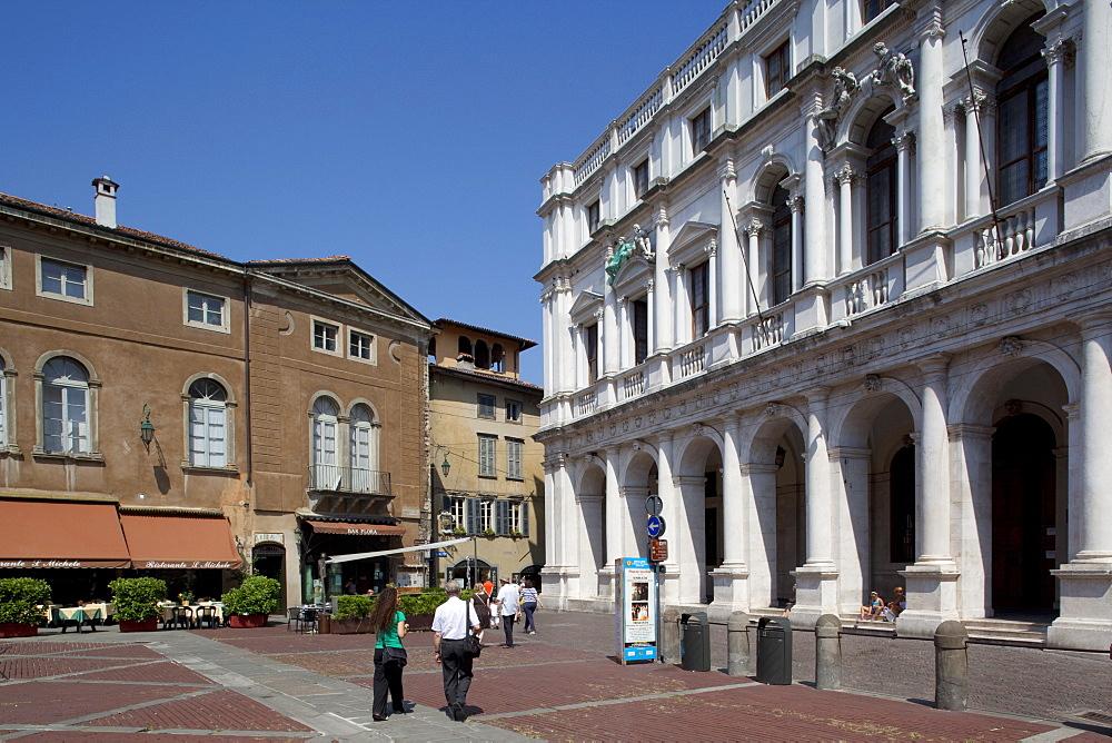 Piazza Vecchia, Bergamo, Lombardy, Italy, Europe