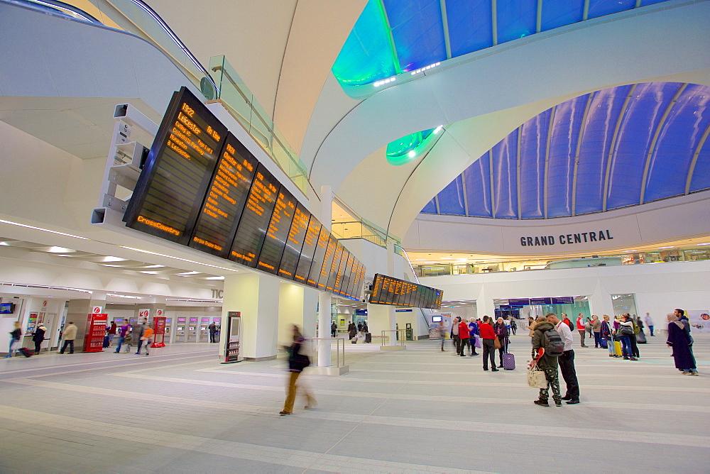 Grand Central Concourse, Birmingham New Street Station, Birmingham, West Midlands, England, United Kingdom, Europe