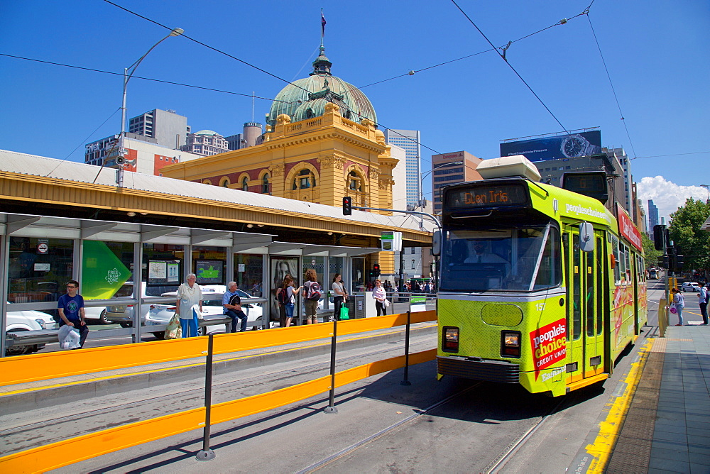 Flinders Street Station and tram, Melbourne, Victoria, Australia, Pacific