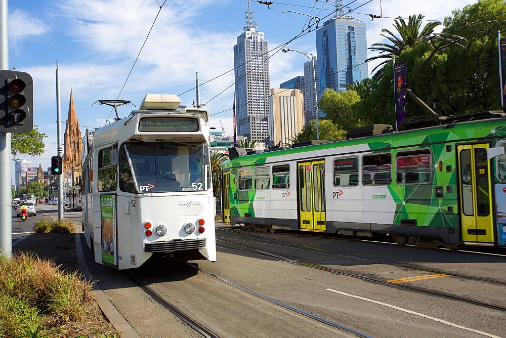 City trams, Melbourne, Victoria, Australia, Pacific
