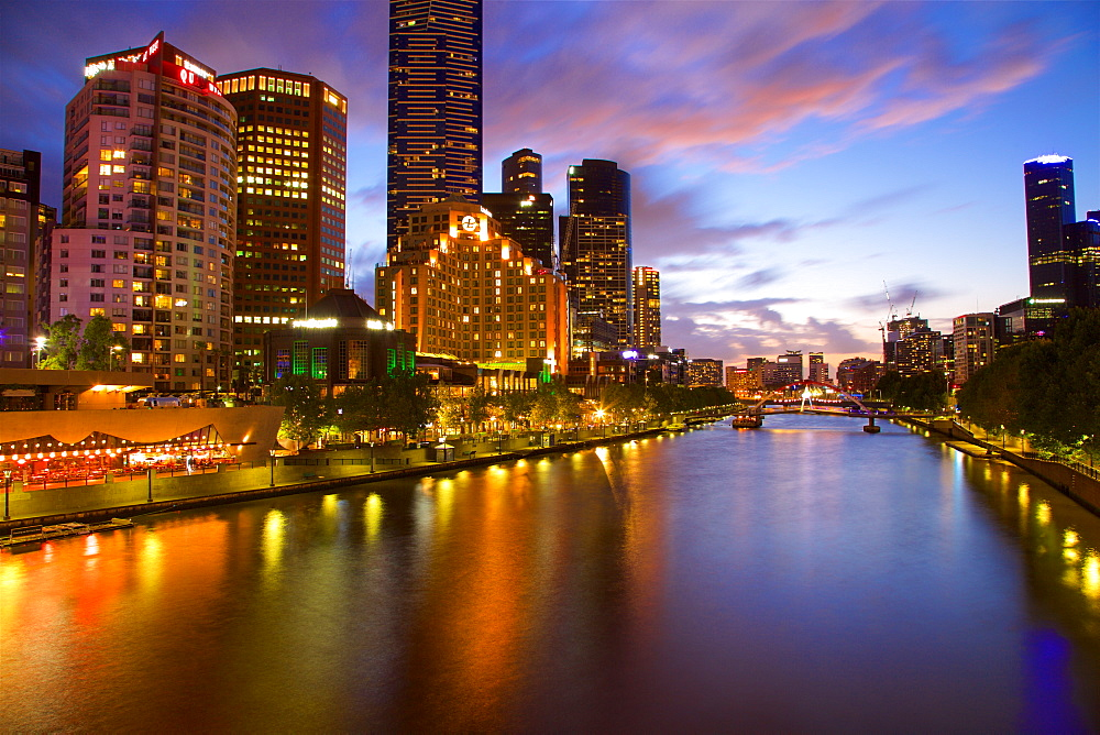 Yarra River and South Bank, Melbourne, Victoria, Australia, Oceania