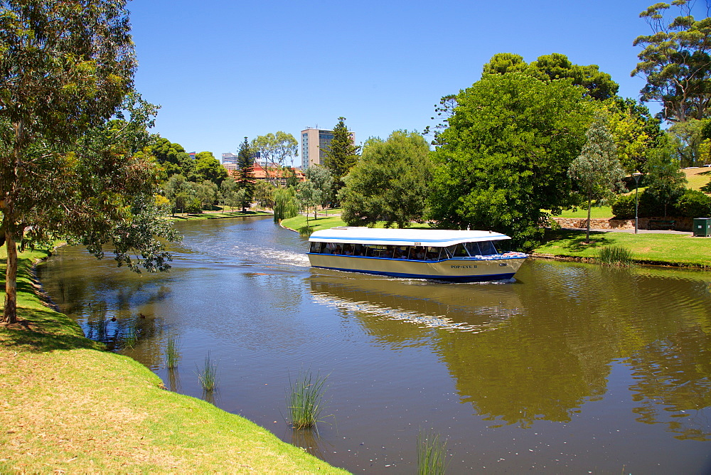 River Torrens and 'Popeye' boat, Adelaide, South Australia, Oceania