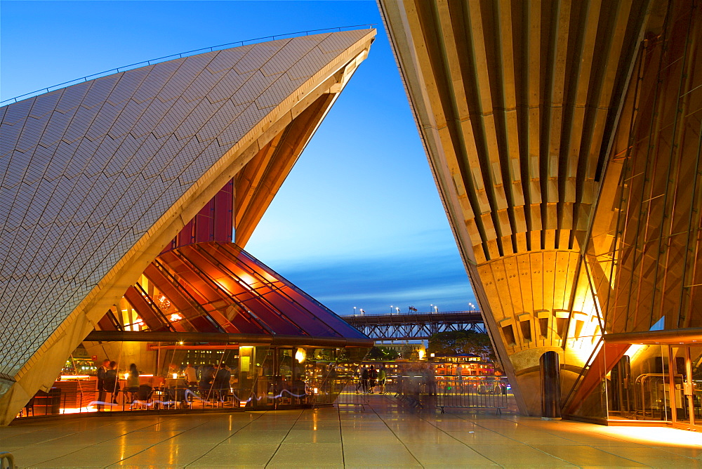 Sydney Opera House at Dusk, UNESCO World Heritage Site, Sydney, New South Wales, Australia, Oceania