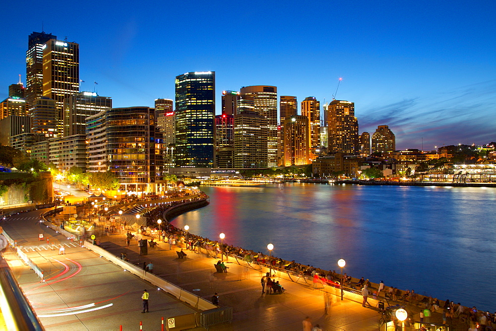 Circular Quay and City at Dusk, Sydney, New South Wales, Australia, Oceania