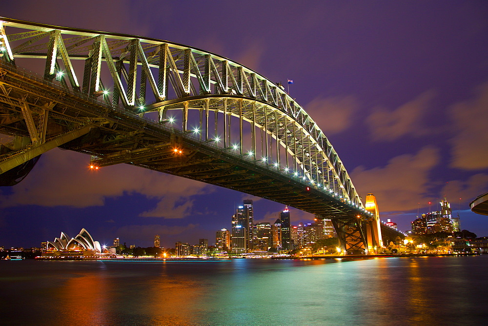 Opera House and Harbour Bridge from North Sydney, Sydney, New South Wales, Australia, Oceania