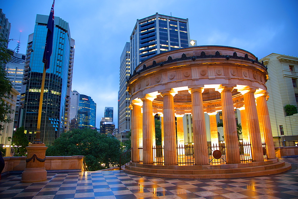 Anzac Memorial at Night, Brisbane, Queensland, Australia, Oceania